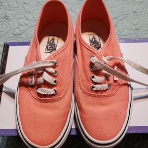 Vans kids deck tie shoes size 1.5 great for summer